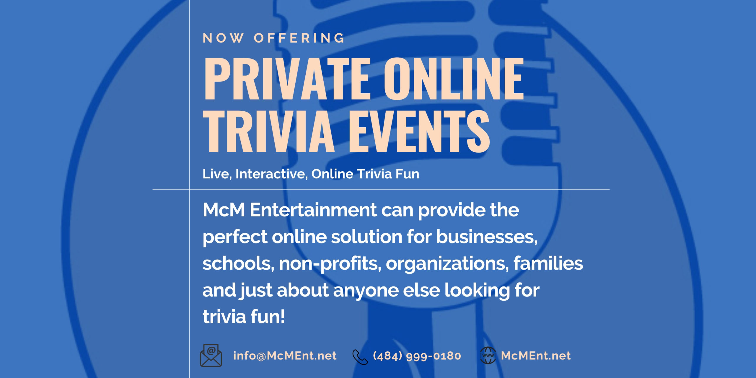 Book your private virtual trivia event now